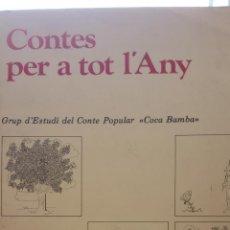 Libros de segunda mano: CONTES PER A TOT L'ANY. GRUP D'ESTUDI DEL CONTE POPULAR COCA BAMBA. DOSSIERS. Lote 269247268