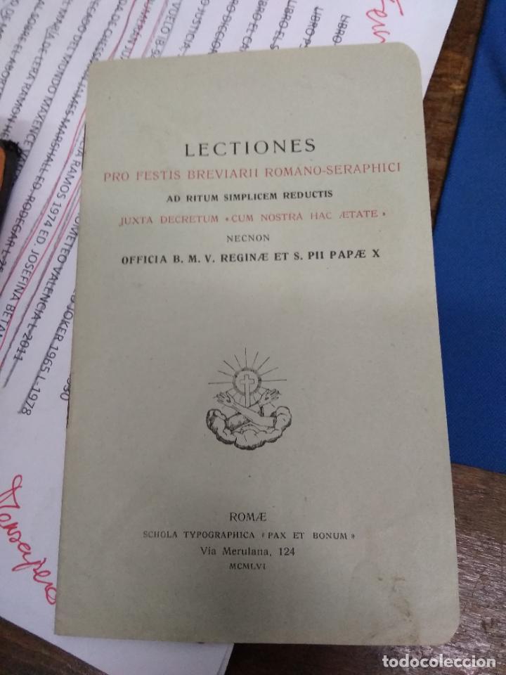 Libros de segunda mano: Lections pro festis breviarii romano-seraphici. Papel-5 - Foto 2 - 269417008