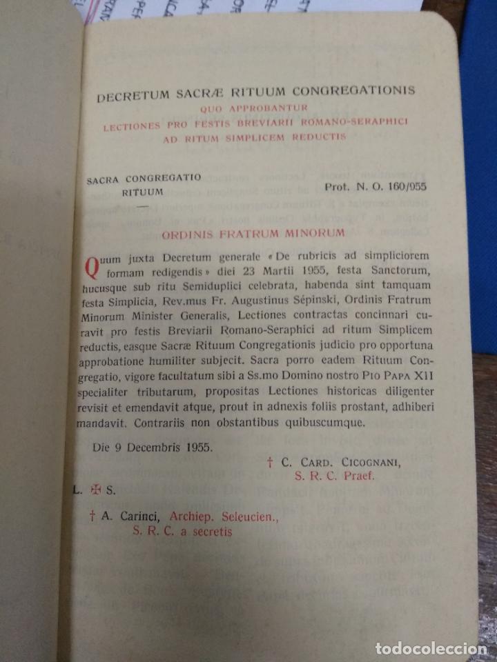 Libros de segunda mano: Lections pro festis breviarii romano-seraphici. Papel-5 - Foto 3 - 269417008