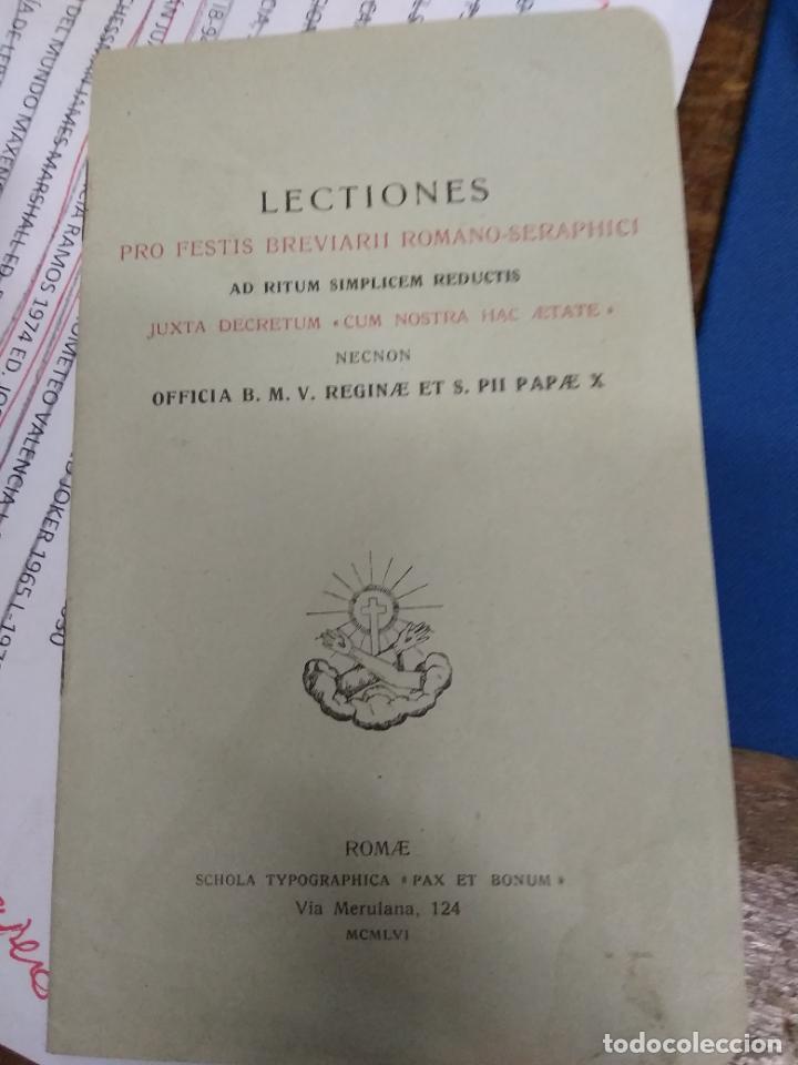 LECTIONS PRO FESTIS BREVIARII ROMANO-SERAPHICI. PAPEL-5 (Libros de Segunda Mano - Otros Idiomas)