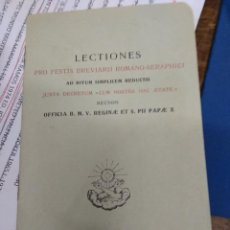 Libros de segunda mano: LECTIONS PRO FESTIS BREVIARII ROMANO-SERAPHICI. PAPEL-5. Lote 269417008