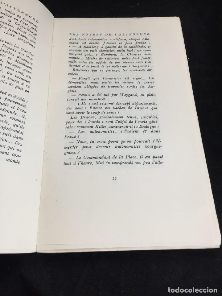 Libros de segunda mano: LES NOYERS DE LALTENBURG. André MALRAUX. Gallimard, nrf, 1948, edición original en francés. - Foto 4 - 269455958