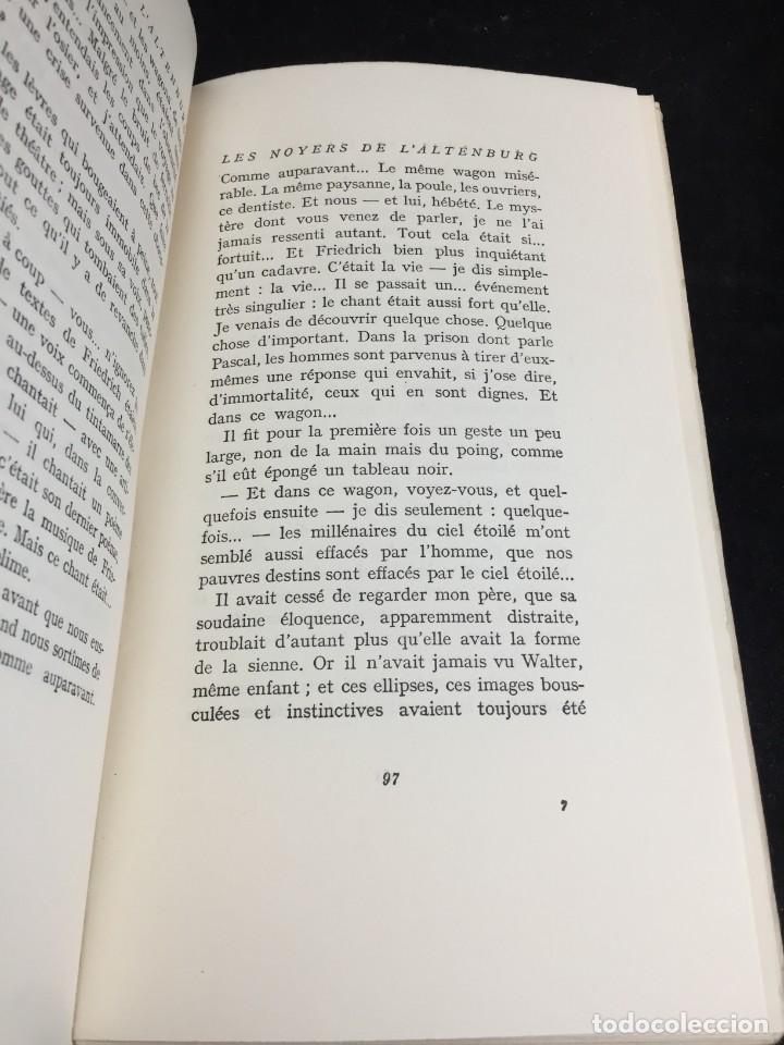 Libros de segunda mano: LES NOYERS DE LALTENBURG. André MALRAUX. Gallimard, nrf, 1948, edición original en francés. - Foto 8 - 269455958