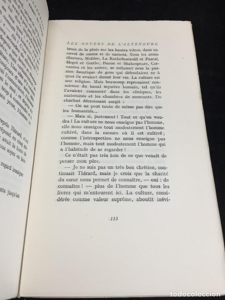 Libros de segunda mano: LES NOYERS DE LALTENBURG. André MALRAUX. Gallimard, nrf, 1948, edición original en francés. - Foto 9 - 269455958