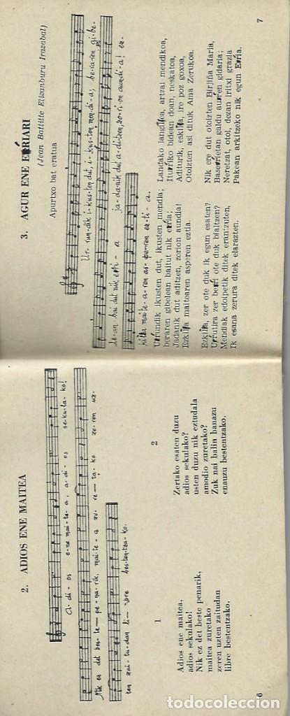 Libros de segunda mano: Boga boga. Erri Abesti Xorta. Donostiko apaizgaitegia 1959, ver nota - Foto 3 - 269457383