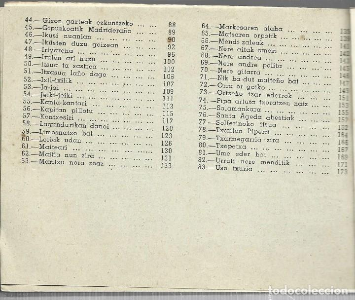 Libros de segunda mano: Boga boga. Erri Abesti Xorta. Donostiko apaizgaitegia 1959, ver nota - Foto 4 - 269457383