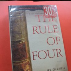 Libros de segunda mano: THE RULE OF FOUR. CALDWELL, IAN Y THOMASON, DUSTIN. 2004. Lote 269585648