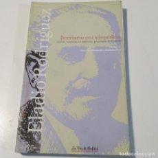 Libros de segunda mano: BREVIARIO ENCICLOPEDICO ELADIO RODRIGUEZ LA VOZ DE GALICIA AÑO 2001 - LIBRO EN GALLEGO. Lote 269607683
