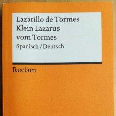 Libros de segunda mano: LAZARILLO DE TORMES- KLEIN LAZARUS VOM TORMES-. Lote 270356678