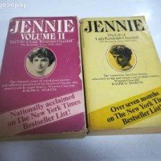 Libros de segunda mano: JENNIE. VOLUMEN I Y II. THE LIFE OF LADY RANDOLPH CHURCHILL. RÚSTICA. RALPH G.MARTIN.. Lote 273912653