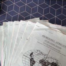 Libros de segunda mano: 7 REVISTAS PROBLEMES AFRICAINS ET DU TIERS MONDE 1969. Lote 274006918