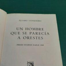 Libros de segunda mano: 1969 ÁLVARO CUNQUEIRO UN HOMBRE QUE SE PARECIA A ORESTES EDICIONES DESTINO GALICIA. Lote 276943763