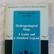 Libros de segunda mano: HYDROGEOLOGICAL MAPS A GUIDE AND A STANDARD LEGEND VOLUME 17 1995 HEISE 1995. Lote 277168068