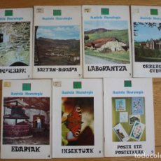 Libros de segunda mano: EUSKERA - IKASTOLA LIBURUTEGIA. 7 ALE.. Lote 277177843