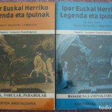 Libros de segunda mano: IPAR EUSKAL HERRIKO LEGENDA ETA IPUINAK. DOS TOMOS.. Lote 277183393