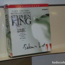 Livros em segunda mão: AUDIOBOOK SALEM'S LOT STEPHEN KING 15 CD READ BY R. MCCLARTY 17,5 HOURS - UNABRIDGED INGLES. Lote 278404353