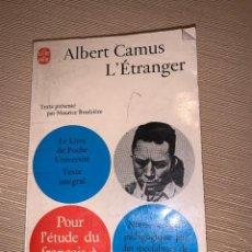Libros de segunda mano: 'L' ÉTRANGER' ALBERT CAMUS. Lote 278640993