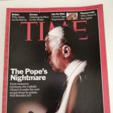 Libros de segunda mano: REVISTA TIME (EN IDIOMA INGLES). THE POPE'S NIGHTMARE. Lote 279385093