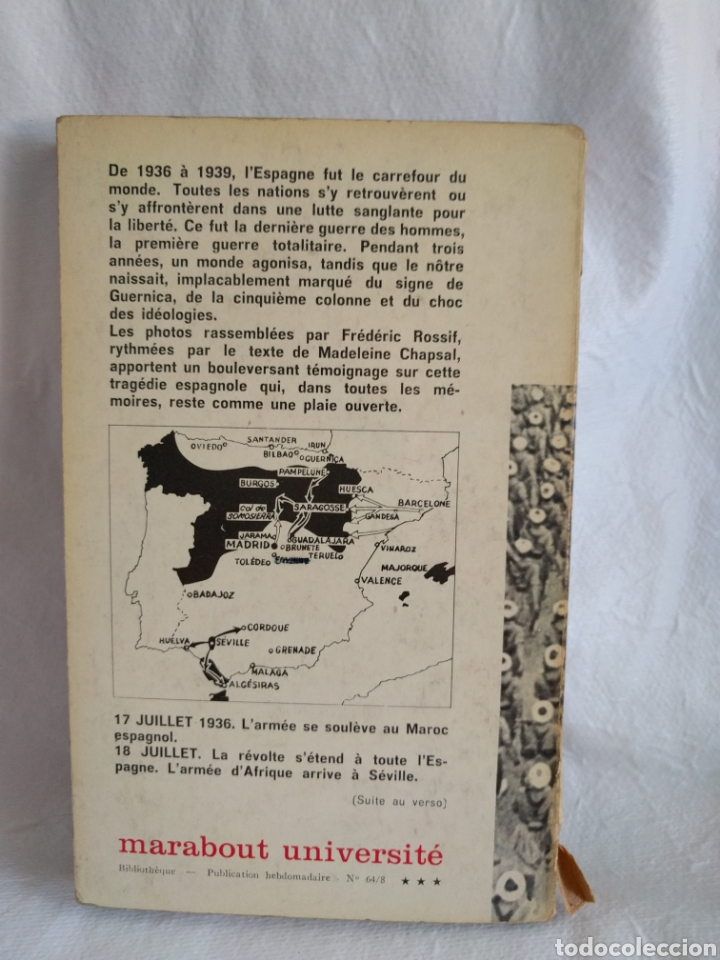 Libros de segunda mano: Mourir a Madrid. Lhistoire vécue de la guerre dEspagne. Frederic Rossif.Madeleone Chapsal. - Foto 2 - 279404438
