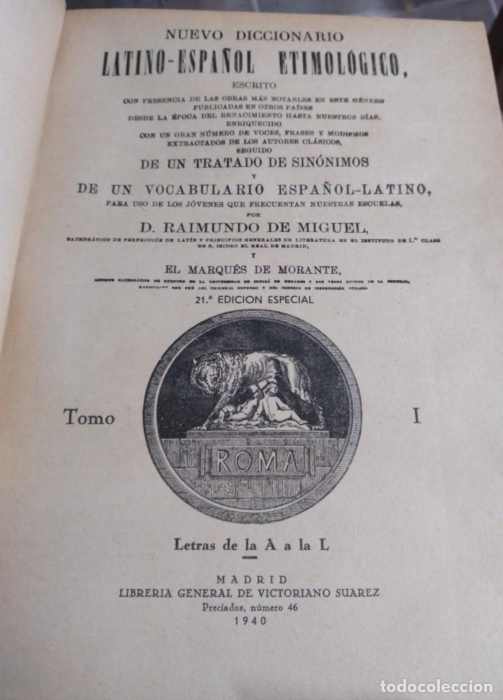 Libros de segunda mano: DICCIONARIO LATIN-ESPAÑOL ETIMOLOGICO: 3 tomos - Foto 2 - 284573928
