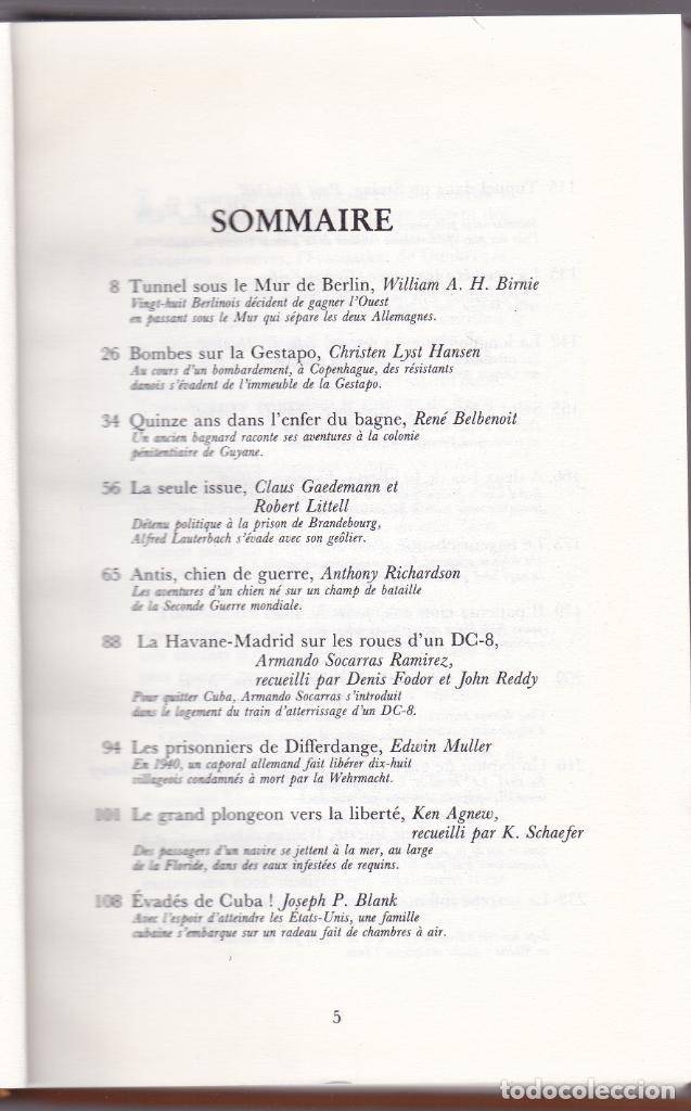 Libros de segunda mano: GRANDES ÉVASIONS DU XX SIÈCLE - VOLUME I - READER´S DIGEST 1980 - Foto 2 - 287750888