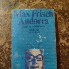 Libros de segunda mano: MAX FRISCH ANDORRA, STUCK IN ZWOLF BILDERN SUHRKAMP TASCHENBUCH. Lote 288413768