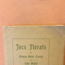 Libros de segunda mano: JOCS FLORALS DEL ATENEU OBRER CATALÀ DE SAN MARTÍ. ANY MCMXII. ESTAMPA LA RENAIXENSA.. Lote 288936333