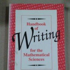 Libros de segunda mano: HANDBOOK OF WRITING FOR THE MATHEMATICAL SCIENCES. NICHOLAS J. HIGHAM. Lote 289495923