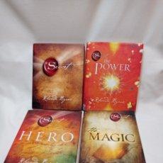 Libros de segunda mano: THE SECRET ,THE POWER, THE MAGIC ,HERO. RHONDA BYRNE.INGLES. Lote 289900723