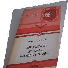 Libros de segunda mano: APENDIZAJE. SISTEMAS, MODELOS Y TEORIAS-CIENCIAS DE LA EDUCACIÓN.- WILLIAM S. SAHAKIAN-1980- ANAYA. Lote 16552219