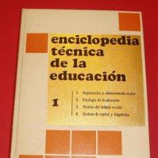 Libros de segunda mano: TOMO 1 DE LA ENCICLOPEDIA TECNICA DE LA EDUCACION. SANTILLANA. 1970. Lote 25300263
