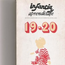 Libros de segunda mano: INFANCIA Y APRENDIZAJE - REVISTA TRIMESTRAL DE ESTUDIOS E INVESTIGACION 19/20. Lote 18407176
