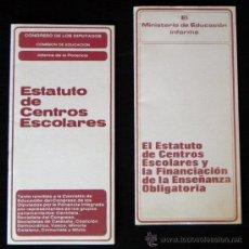 Libros de segunda mano: ANTIGUO CUADERNO ESTATUTO DE CENTROS ESCOLARES Y FINANCIACIÓN ENSEÑANZA -NO ES LIBRO - EDUCACIÓN. Lote 24696623