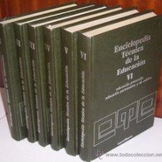 Libros de segunda mano: ENCICLOPEDIA TÉCNICA DE LA EDUCACIÓN 6T POR SERGIO SÁNCHEZ CEREZO DE SANTILLANA EN MADRID 1978. Lote 24705838