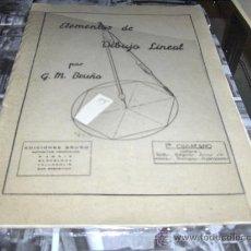 Libros de segunda mano: ELEMENTOS DE DIBUJO LINEAL, POR G.M.BRUNO. Lote 22911543