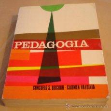 Libros de segunda mano: CURSO DE PEDAGOGIA - CONSUELO S. BUCHON, CARMEN VALDIVIA - COLECCIÓN P. POVEDA.. Lote 24666619