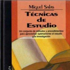 Libros de segunda mano: MIGUEL SALAS - TÉCNICAS DE ESTUDIO - BIB. TEM. ALIANZA Nº 36 - DEL PRADO - 1994. Lote 29789995