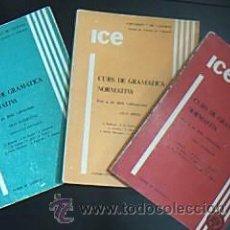 Livres d'occasion: CURS DE GRAMÁTICA NORMATIVA. PER A ÚS DELS VALENCIANS. UNIVERSITAT DE VALÈNCIA 1979-80. Lote 29359412