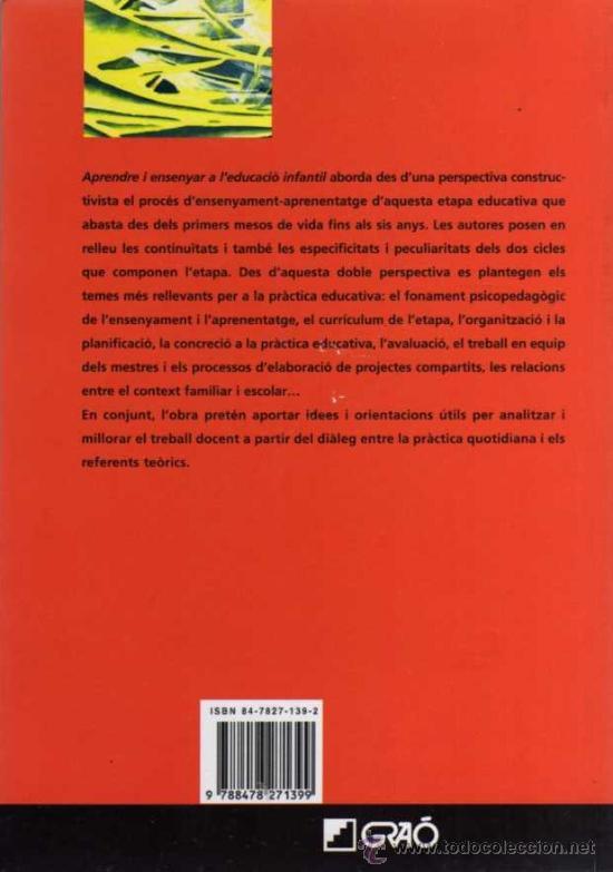 Libros de segunda mano: VV.AA. - APRENDRE I ENSENYAR A LEDUCACIÓ INFANTIL - BIB. DINFANTIL Nº 1 - ED. GRAÓ - 2006 - Foto 2 - 29894004