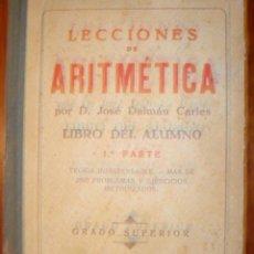 Libros de segunda mano: LECCIONES DE ARITMETICA. Lote 30213728