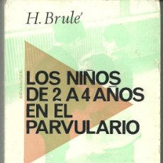 Libros de segunda mano: LOS NIÑOS DE 2 A 4 AÑOS EN EL PARVULARIO H BRULE 1971 EDITORIAL FONTANELLA. Lote 30826487