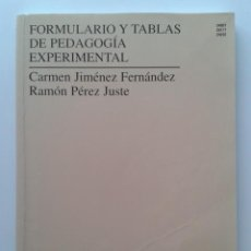 Libros de segunda mano: FORMULARIO Y TABLAS DE PEDAGOGIA EXPERIMENTAL - UNIVERSIDAD NACIONAL DE EDUCACION A DISTANCIA. Lote 31732514