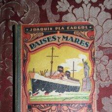 Libros de segunda mano: 1578- 'PAÍSES Y MARES (TERCER MANUSCRITO)' POR J. PLA CARGOL ED. DALMÁU CARLES GERONA 1947. Lote 31877406