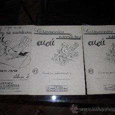Libros de segunda mano: 3 CUADERNOS CUCÚ EDITORIAL SALVATELLA - BARCELONA - CARTAPACIOS ESCOLARES N º 2-3 Y ESCRITURA 2. Lote 31922340
