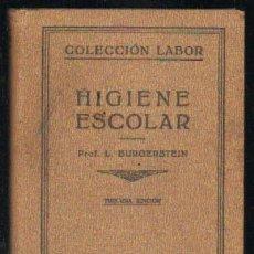 Libros de segunda mano: HIGIENE ESCOLAR A-PED-463. Lote 31946485