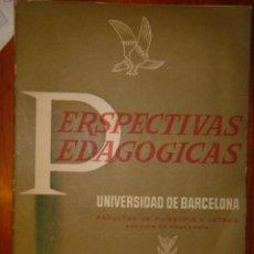 Libros de segunda mano: PERSPECTIVAS PEDAGOGICAS - UNIVERSIDAD DE BARCELONA - Nº 4 - 1959. Lote 32530338
