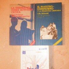 Libros de segunda mano: 2 LIBROS PEDAGOGÍA: EL MAESTRO COMPAÑERO / ENSEÑANZA COMO ACTIVITAT CRÍTICA. Lote 33386387