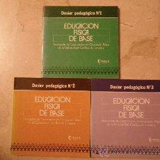 Libros de segunda mano: EDUCACION FÍSICA DE BASE. DOSIERS PEDAGÓGICOS NÚM.1, 2 Y 3. . Lote 34646428