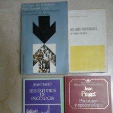Libros de segunda mano: PIAGET: LOS AÑOS POSTERGADOS, 6 ESTUDIOS, PSICOLOGÍA Y EPISTEMOLOGIA Y TENDENCIAS DE LA INV. EN CCSS. Lote 33386470