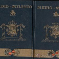 Libros de segunda mano: MEDIO MILENIO, 1988, GRÁFICAS CAÑIZARES, MADRID, 2 TOMOS, 5º CENTENARIO COLÓN. Lote 34932567